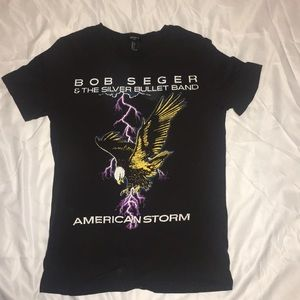 Bob Serger and the Silver Bullet Band graphic tee